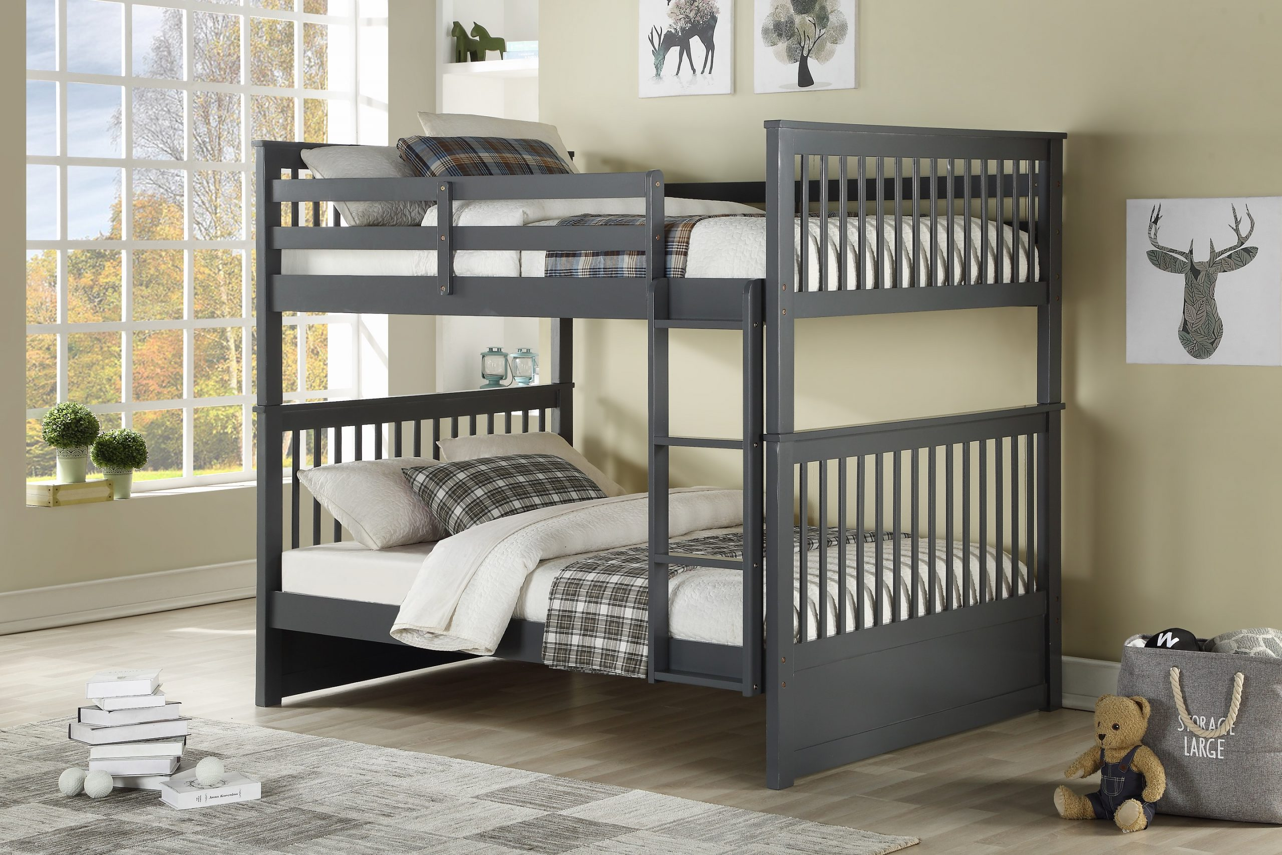 Picture of: Ifdc B 123 E Double Over Double Bunk Bed Furniture Trends